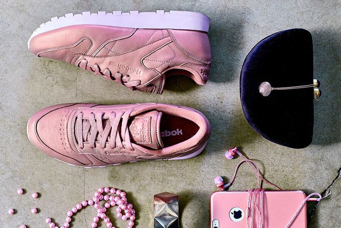 Reebok Classic Leather Pearl Pack Womens Rose Pink 1