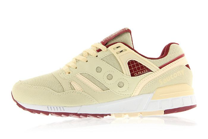 Saucony Grid Sd Cream Burgundy 5