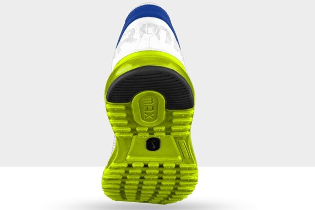 Nikeid Air Max Volt White Blue Heel 1