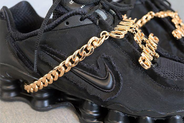 Cdg Nike Shox Black Release Date Swoosh