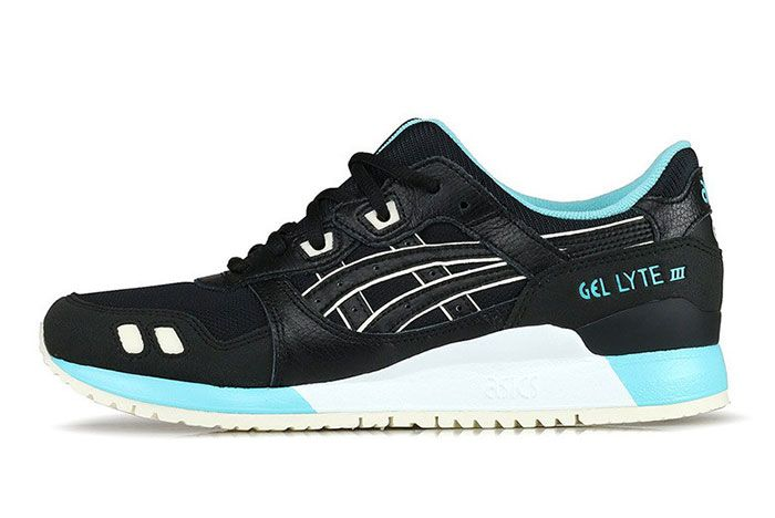 Asics Gel Lyte Iii Black Turquoise Lateral