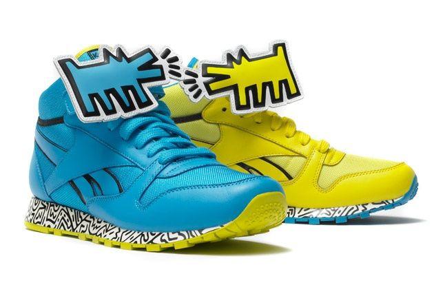 Reebok X Keith Haring Barking Dogs Blue Yellow Pack Profile 1