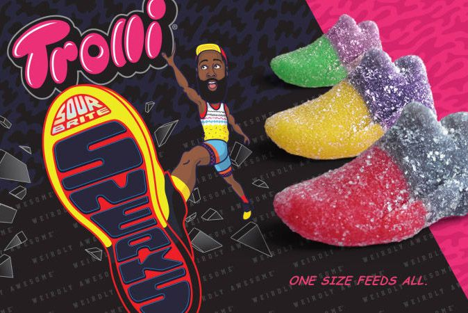 James Harden Trolli Sour Brites Sneaks Candy 1