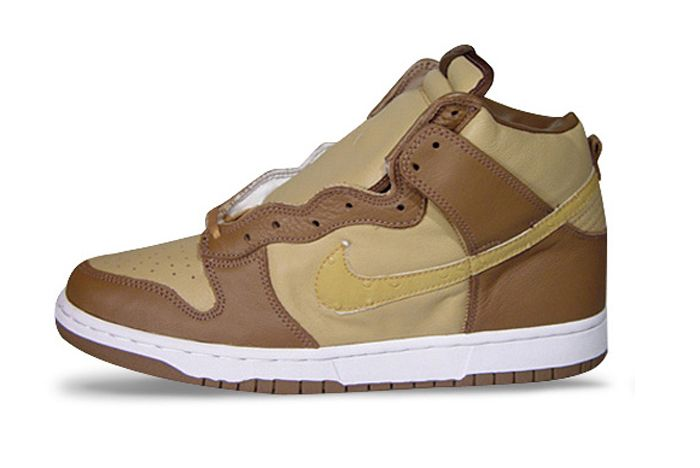 Stussy Nike Dunk High Brown Lateral Side
