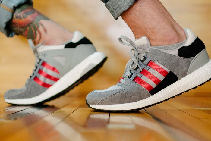 Adidas Eqt Support 93 16 Grey Red 1