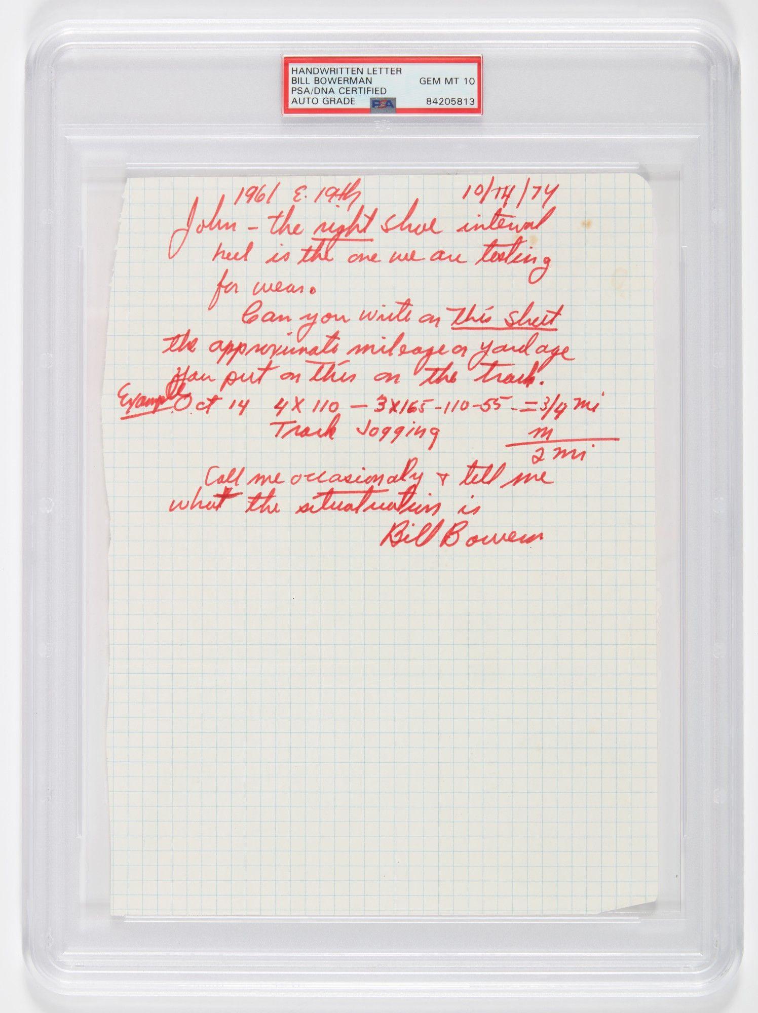 Bill Bowerman Letter