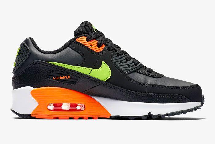 Nike Air Max 90 Orange Green Right