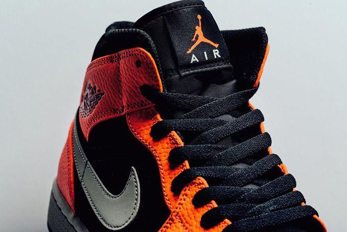 Air Jordan 1 Mid Black Cone 2