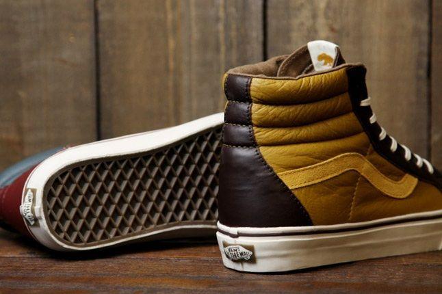 Vans Leather Sk8 Hi Heel 1
