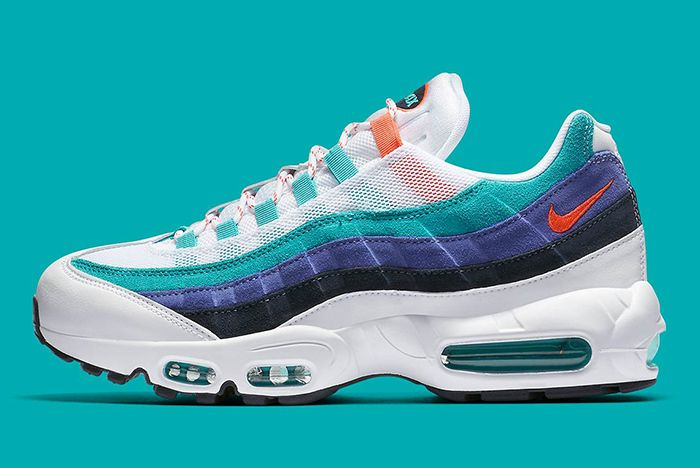Nike Air Max 95 White Flash Crimson Hyper Jade 1
