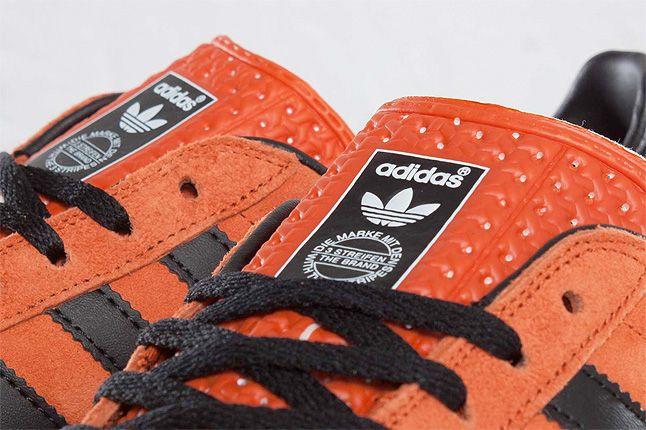 Orange Adidas Gazelle Indoor Close Up 1