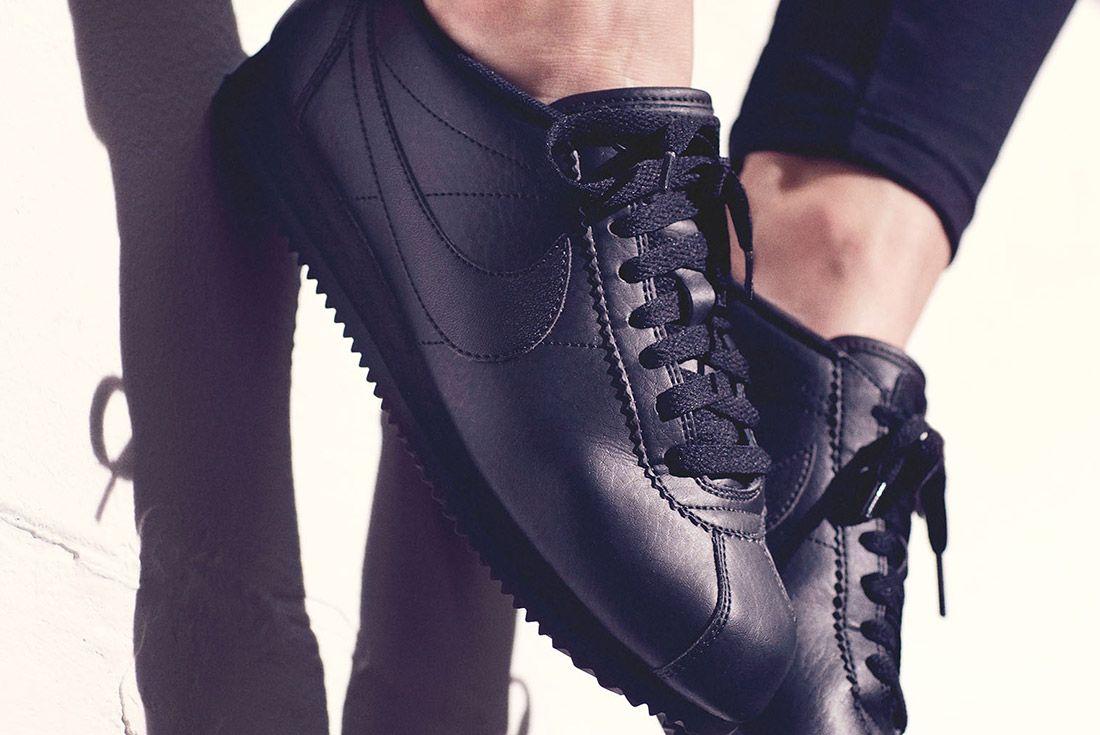 Nike Cortez Premium Womens Beautiful Powerful Black Style 1
