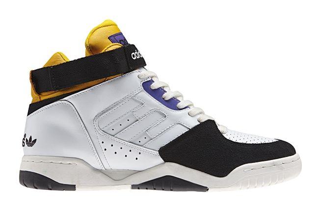 Adidas Originals Enforcer Mid Yellow Purple Profile 1
