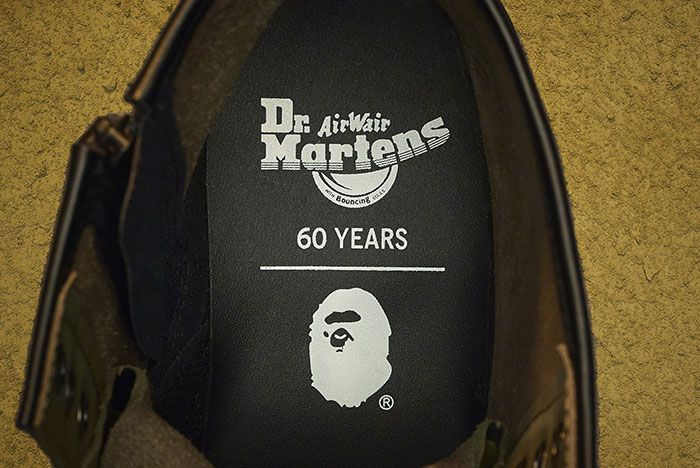 Bape Dr Martens 1460 Remastered Insole Shot