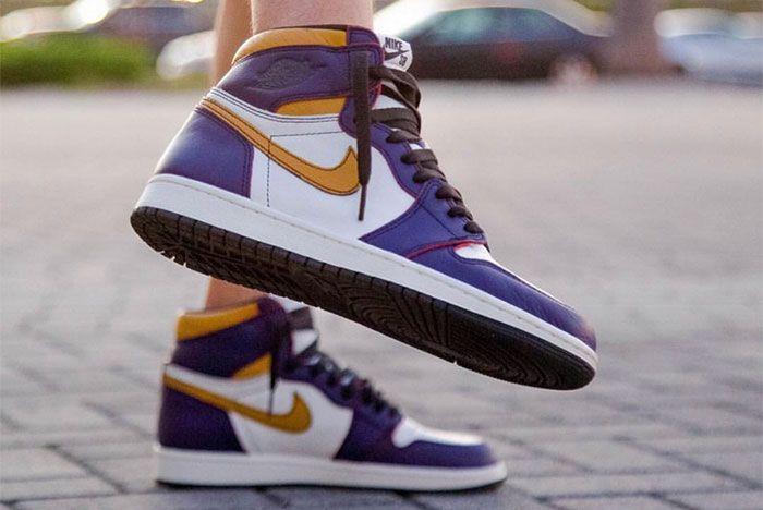 Nike Sb X Air Jordan 1 Lakers Up Close 7