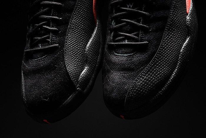Air Jordan 12 Low Black Max Orange 7