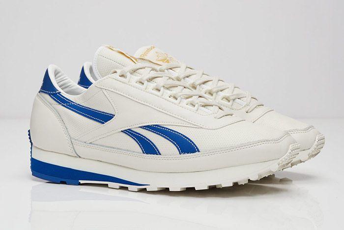Reebok Aztec Leather White Blue 5