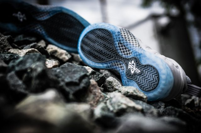 Nike Foamposite Grey Suede Bumper 3