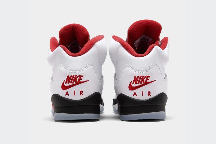 Air Jordan 5 Fire Red Heels