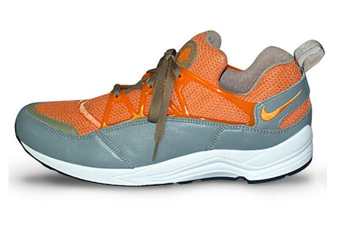 Stussy Nike Huarache Light Orange Lateral Side