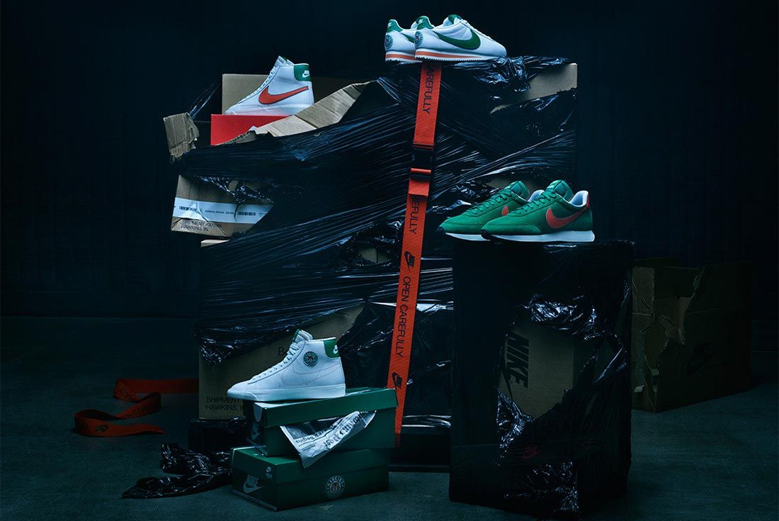 Nike Stranger Things Hawkins Shoes Whole Collection Shot