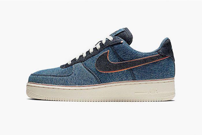 Nike 3 X 1 Air Force 1 Blue Side