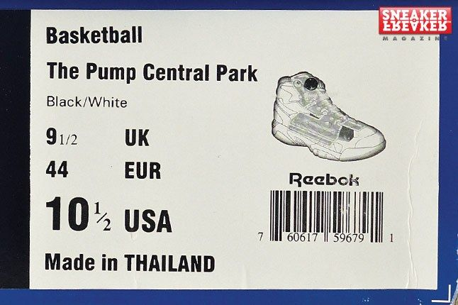 Reebok Pump Central Park Box 1