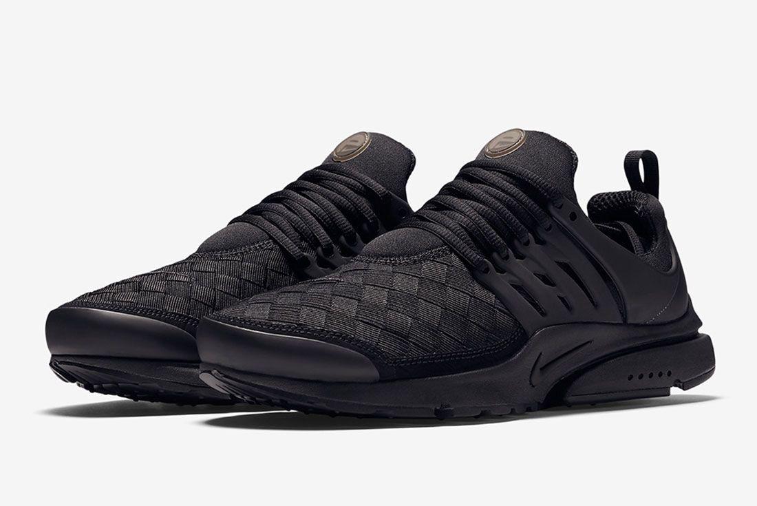 Nike Air Presto Woven Tripe Black 1