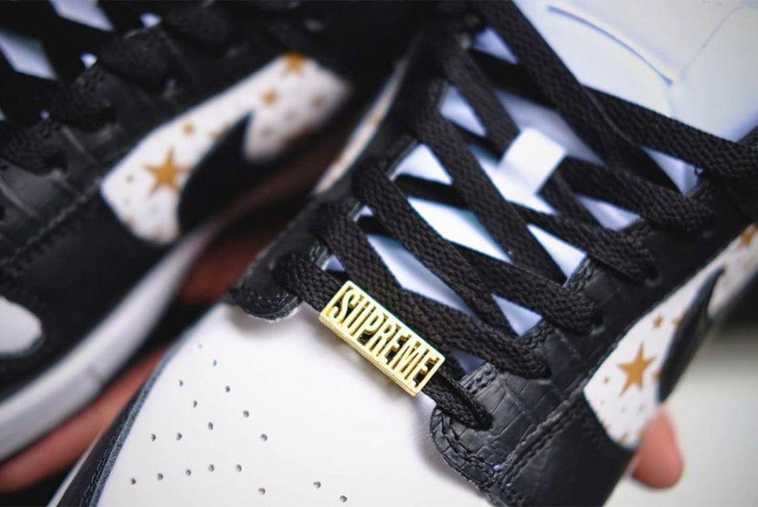 Supreme x Nike SB Dunk Low 'Black Stars'