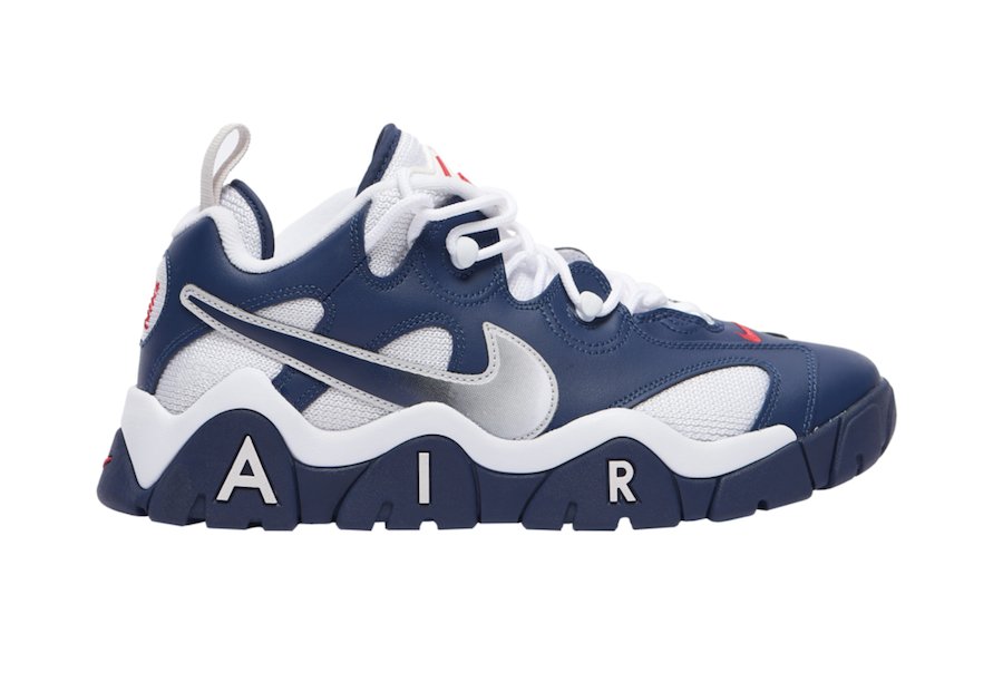 Nike Air Barrage Low Navy White Red Cn0060 400 Release Date 4 On White 1