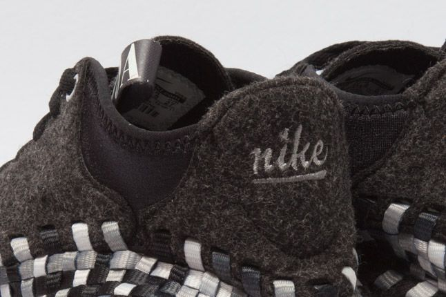 Nike Air Woven Footscape Chukka Black Heel Logo 1