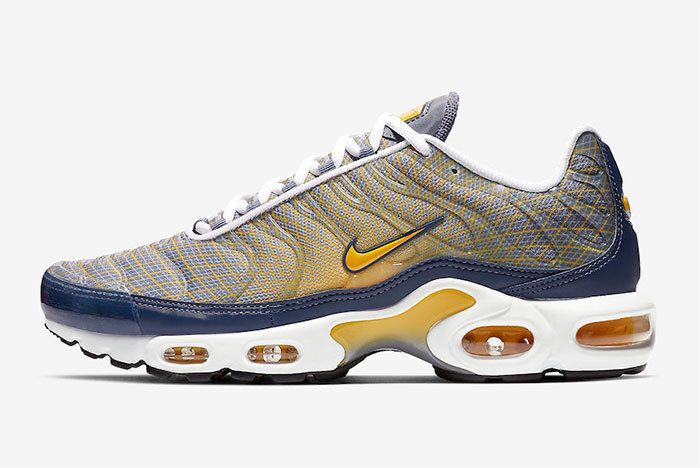 Nike Air Max Plus Grid Blue Yellow Left