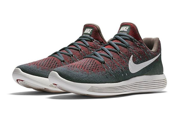 Nike Gyakusou Lunarepic Flyknit Low 2 Green Red 4