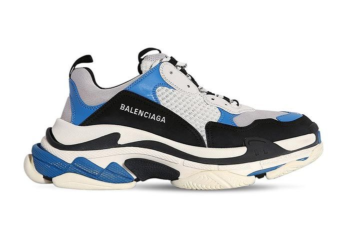 Balenciaga Triple S Blue Right Side Shot