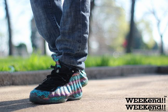 Nike Foamposite Rocket Boy Nift Sunset Strip On Feet 2 1