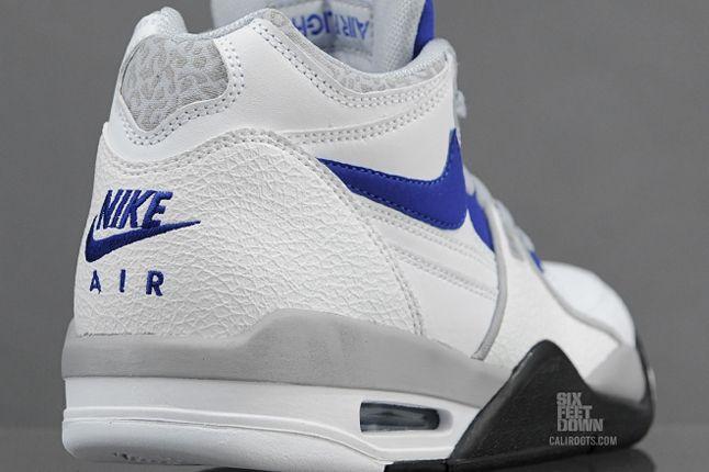 Nike Air Flight 89 White Hyper Blue Heel Detail 1