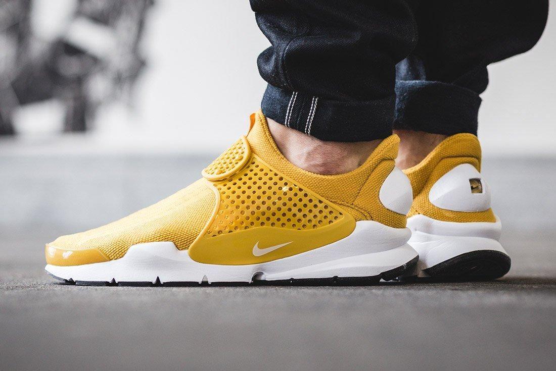 Nike Sock Dart Gold On Foot 6