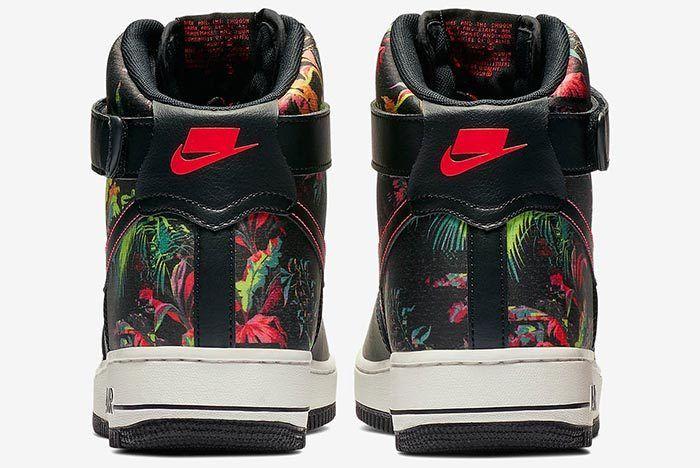 Nike Air Force 1 Floral Heel Shot 4