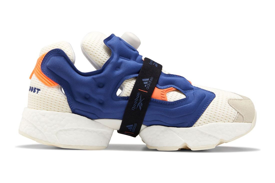 Adidas Reebok Instapump Fury Boost Prototype Og Meets Og Black White Lateral Side Shot