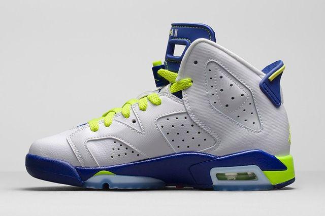 Air Jordan 6 Girls Fierce Green Bump 2