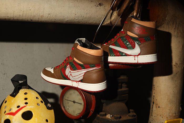 Ceeze Air Jordan 1 Freddy Vs Jason Custom Medial Lateral