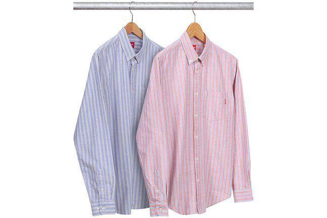 Supreme Striped Oxford Shirt 1