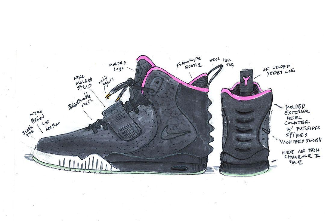 Nike Air Yeezy Ii Sketch
