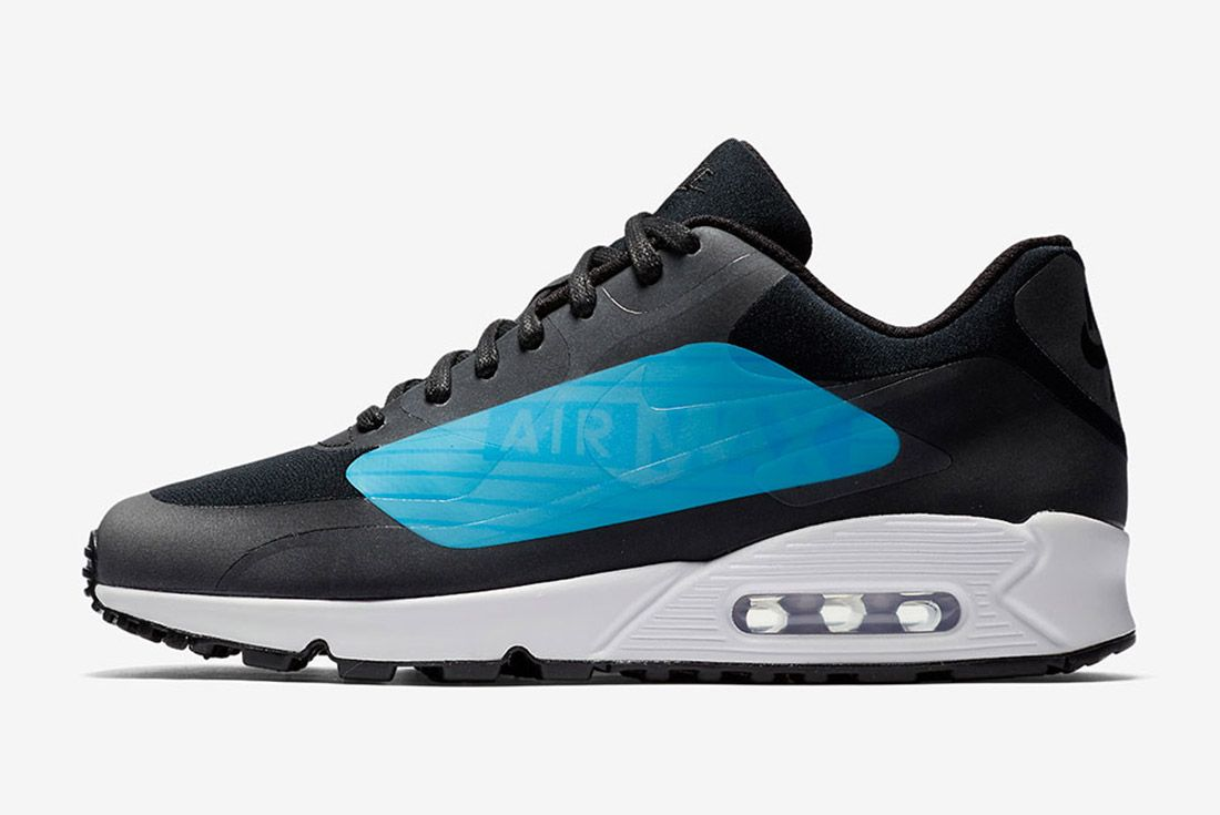 Nike Air Max 90 Big Logo Laser Blue Black Sneaker Freaker 7