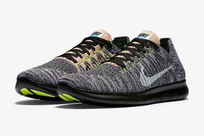 Nike Free Rn Flyknit Blackblue Glow6