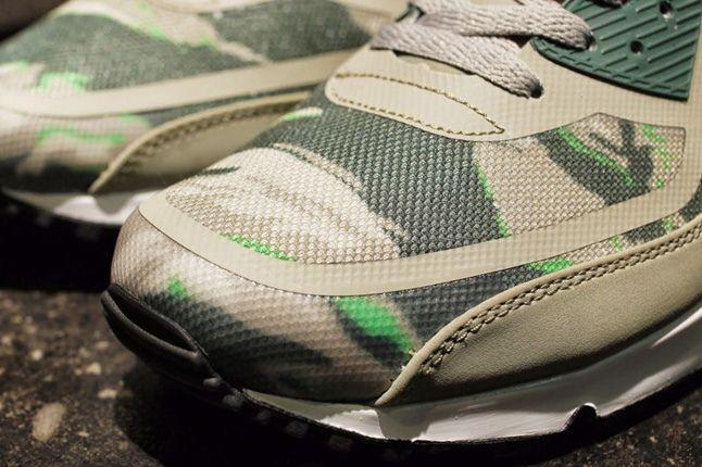 Nike Am90 Prm Tape Green Camo Toe Detail 1