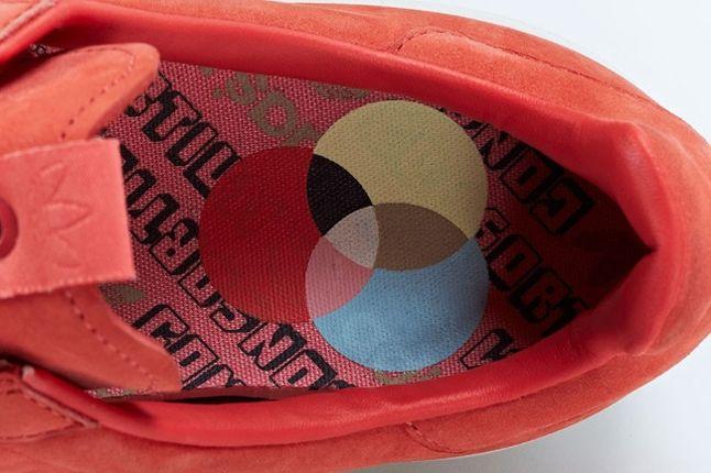 Adidas Consortium Adicolor Salmon Red Footbed Detail 1