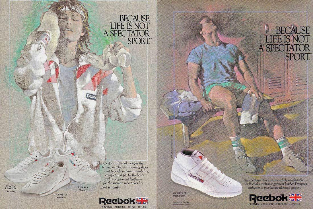 1985 Vintage Reebok Ads