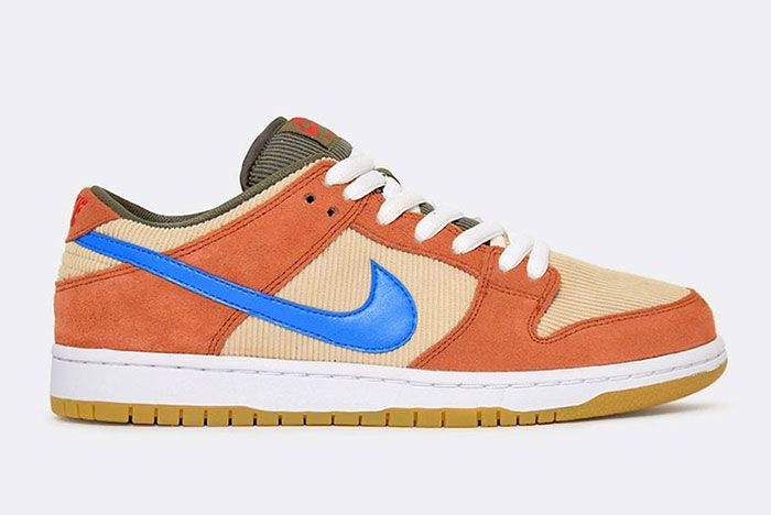 Nike Sb Dunk Low Corduroy Bq6817 201 3 Side