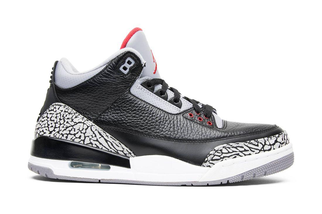 Air Jordan 3 Black Cement 2011 136064 010 Lateral
